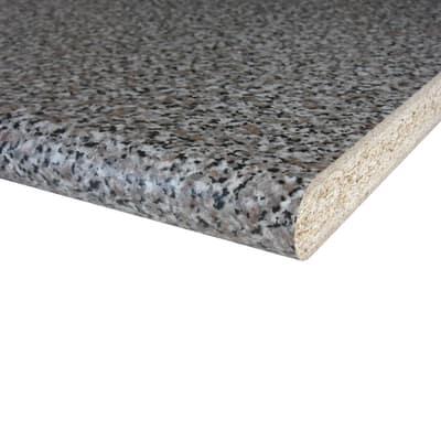 Piano cucina laminato granito baveno 2 8 x 60 x 304 cm prezzi e offerte online leroy merlin - Piano cucina granito ...