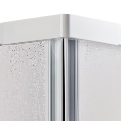 Doccia con porta battente e lato fisso Elba 88 - 92 x 78 - 82 cm, H 185 cm acrilico 3 mm stampato/bianco lucido