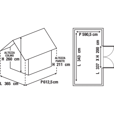 Garage in metallo Boston, 22,4 m²