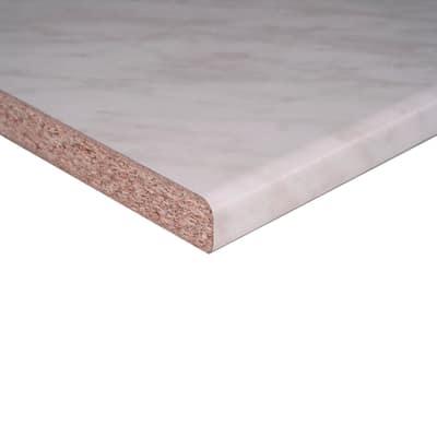Piano cucina laminato Marmo Carrara 2.8 x 60 x 246 cm