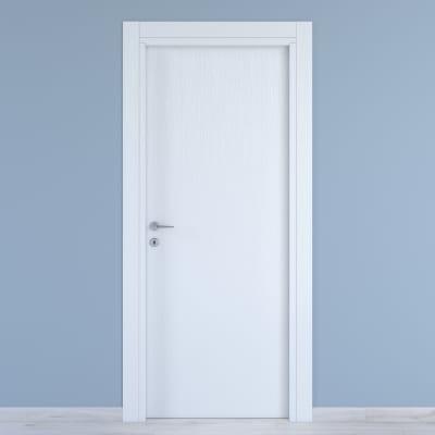 Maniglia per porta con rosetta e bocchetta Milema in zama