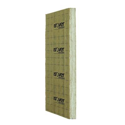 Pannello in lana di vetro italiana 4+ con carta kraft bitumata Mupan Isover L 1,45 m x H 0,6 m, spessore 40 mm