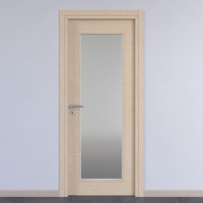 Porta da interno battente Spring rovere chiaro 80 x H 210 cm reversibile