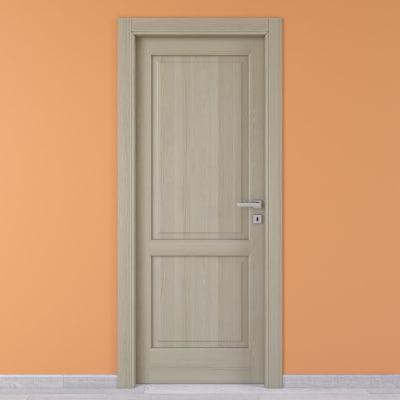 Porta da interno battente Vermeer rovere sbiancato 60 x H 210 cm sx