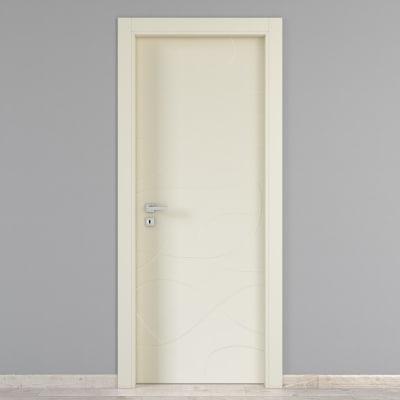 Porta da interno battente Wind ivory avorio 60 x H 210 cm dx
