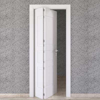 Porta da interno pieghevole asimmetrica Alioth bianco 70 x H 210 cm sx