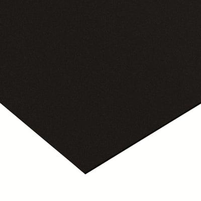 Lastra polipropilene nero 1000 x 500  mm, spessore 1 mm