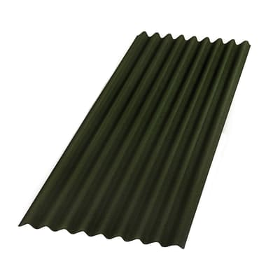 Lastra ondulata Onduline base verde in bitume 85 x 200  cm, spessore 2,6 mm