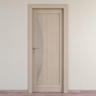 Porta da interno battente Halfmoon paglia 70 x H 210 cm dx