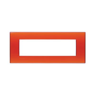 Placca 7 moduli BTicino Livinglight arancio