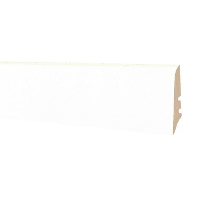 Battiscopa impiallacciato laccato bianco 18 x 58 x 2500 mm